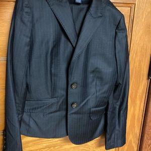 J. Crew Jackets & Coats - JCrew super 120s navy pinstripe wool suit 2P